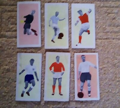 50 star footballers of 1963 Fleetway 6 cards