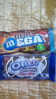 American imported sweets RARE oreo brownie  mega m &ms