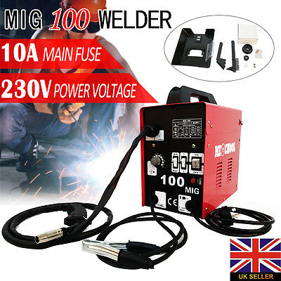 Gasless Mig 100 Portable Welder Welding Machine No Gas Flux Core Wire Feed Mask