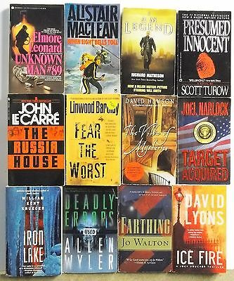 12 books POPULAR NOVELS BEST SELLERS Adventure Suspense Lot #A366 Free US S/H