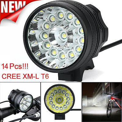 34000 Lm 14x CREE T6 LED 3 Modes Bicycle Lamp Bike Light Headlight Cycling Torch