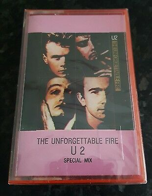 U2 Sealed Italian The Unforgettable Fire Special Mix Cassette In Pink P/s