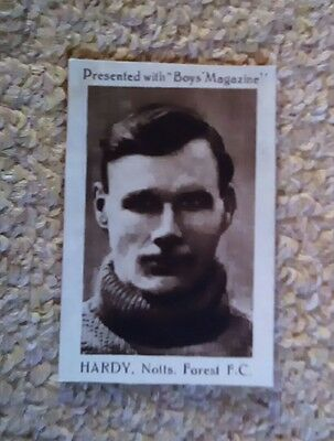 Boys magazine card Hardy Notts Forest