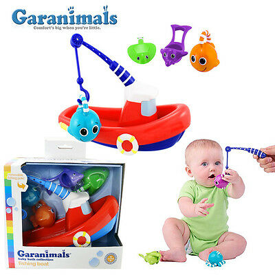 Brand New Baby Toddler Gift Toy GARANIMALS Fishing Boats Bath Toys