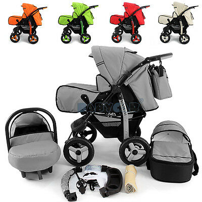 BIG SALE Baby Pram Stroller + Car seat Pushchair Buggy Poussette Travel system