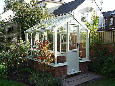 """6ft8"""" x 8ft5"""" Victorian Style Timber Greenhouse."""