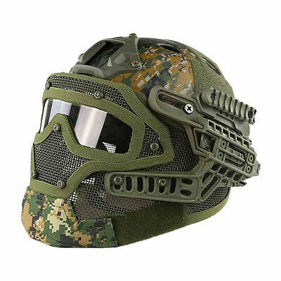 Emerson Gear Tactical Helmet Full Face Mask Goggles Airsoft Paintball EM9197D