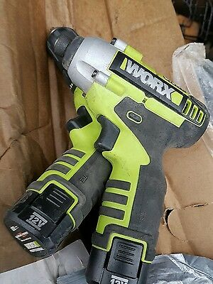 Worx 12V Lithium-Lon Cordless Impact & Drill Driver Twin Pack with batteries
