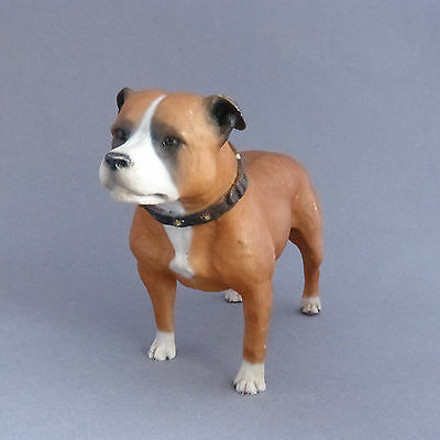 Staffordshire Bull Terrier Vintage North Light Dog Figurine Made in England