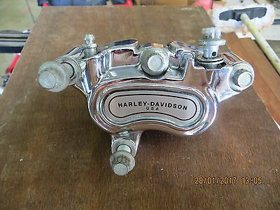 Harley Davidson Single Chrome Lhs Front Brake Caliper Kit - Exc Condition