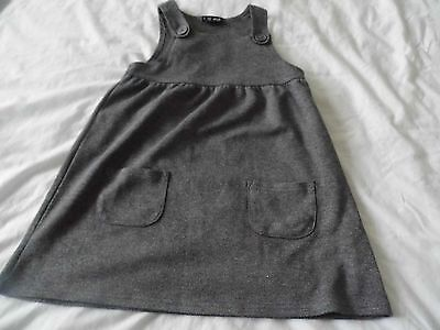 Next Girls Grey School Pinafore Age 4 Years Very Soft Material Excellent Cond