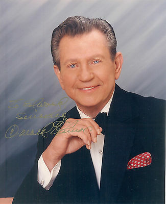 Signed Autograph Photo Donald O`connor Singing In The Rain