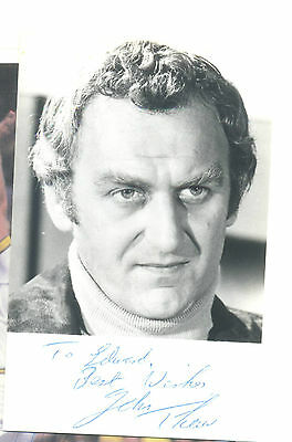 Signed Autograph Photo John Thaw The Sweeney