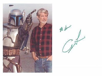 George Lucas Star Wars Signed Autograph