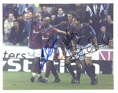 West Ham Signed  Autograph Photo Sinclair, Keller And Lampard