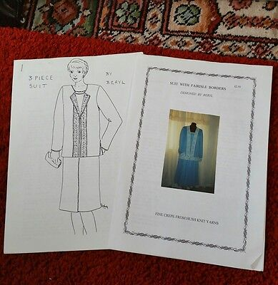 2 new suit patts by Beryl. please see description and photos