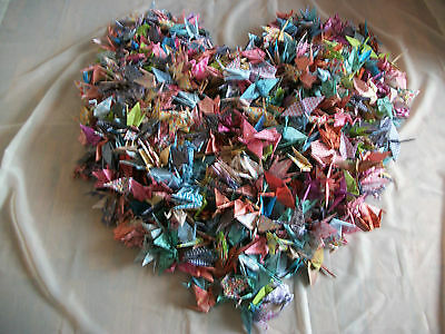 100 Plus 2 Giant Handmade Origami Cranes in Assorted Colours (1)