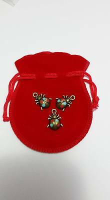 Witch Charms 3 Lucky Ladybugs in a Bag Talisman Protection