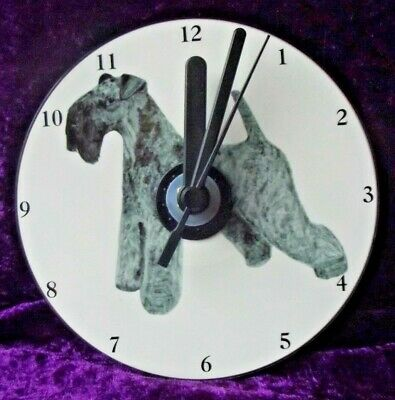 Kerry Blue Terrier CD Clock by Curiosity Crafts
