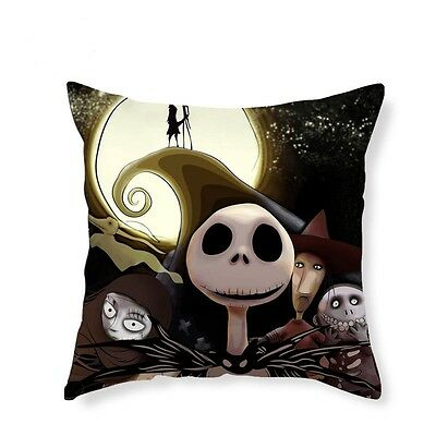 NEW Nightmare Before Christmas Cushion Cover Pillowcase Jack Skellington