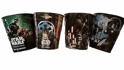 Star Wars Collectable Popcorn Tins - Rouge One - Set of 4 Perfect Condition