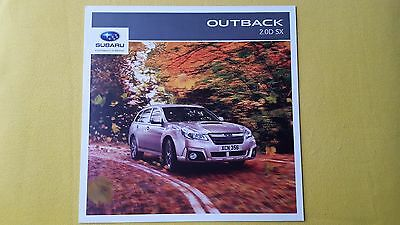 Subaru Outback 2.0D SX 6MT Lineartronic paper brochure 2014 MINT AWD 4WD 4x4