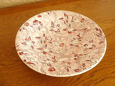 """A Maling 8.5"""" Saucer/Dish in a Pink  Chintz  Pattern"""