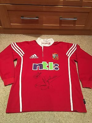 Rare British Lions 2001 player signed rugby shirt-Small-Signed by 3 Lions