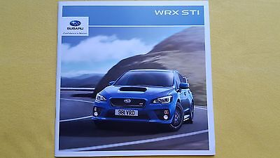 Subaru WRX STI official paper brochure sales catalogue 2015 MINT 4x4 AWD rally