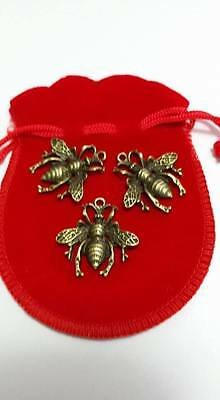 Witch Charms Honey Bees in a Bag Talisman Prosperity
