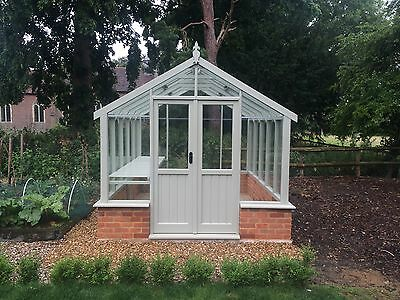 "8'ft9"" x 10ft6"" Victorian Stlye Timber Greenhouse."