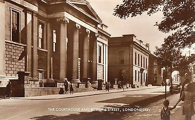 The Courthouse & Bishop's St Londonderry Derry Ireland Rp Irish Postcard