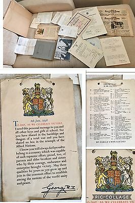 King George V1 1946 Victory message to schools,plus All You See, Vintage Items