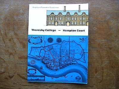 Thoresby College. Hampton Court. King's Lynn Preservation Trust Booklet. c.1960s