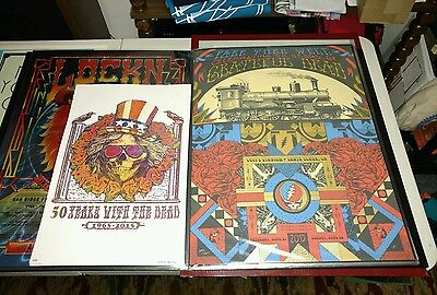 grateful dead posters fare thee well 2 posters Helton screen print phish