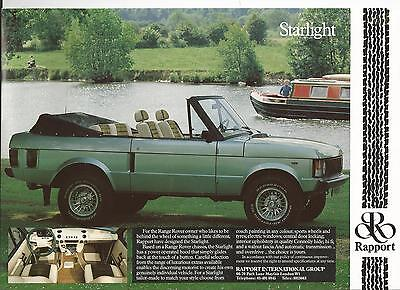 Early Range Rover   Brochure