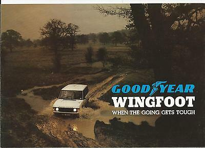 Early Range Rover Good Year Brochure