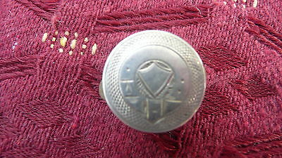 Early 20th Century Silver Fronted Engraved 2 Part Large Collar Stud (1)