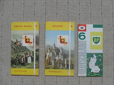 3 1950's / 60's Shell and BP maps - Germany