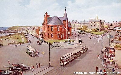 Portrush From Railway Station Antrim Ireland Postcard  Posted In 1951