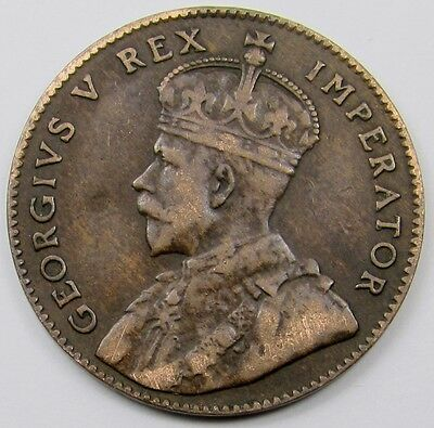 CYPRUS -  KING GEORGE V  1/4  PIASTRE COIN  dated 1926