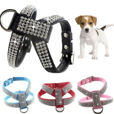 1 Pet Bougies Diamante Strass Dog Collier Chat Harnais Laisse Set