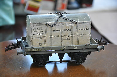 "Hornby O Gauge ""LMS"" Open Wagon and BR Insul-Meat Container"