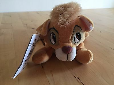 Disney Oliver And Company Bean Bag Teddy Plush Cuddly Toy With Tags
