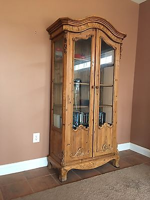 French Provincial Style Pine Cabinet