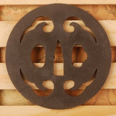NEW Auspicious clouds Iron Tsuba Handguard for Japanese swords katana wakizashi