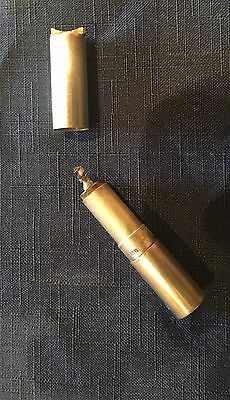 Early Silver Cylinder Lighter Silver Case, Hallmarked 1918