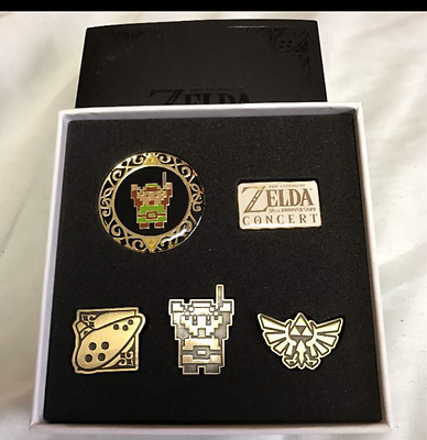 F/S NEW!!!! The Legend of Zelda 30th anniversary concert pins limited JAPAN