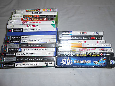 games bundle Job Lot mixed PC XBOX PS2 Playstation Wii