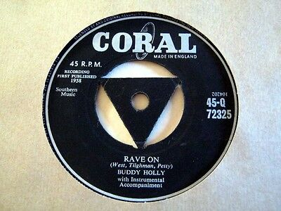 Buddy Holly-Rave On-Coral Tricentre Q.72325 1958 Ex+